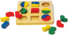 Wooden Toy Geometric Educational Geo Puzzle Shapesorter