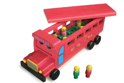 Wooden Toy American School Bus From Kirkintilloch