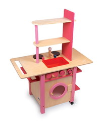 CHILDRENS TOY ALL IN ONE PINK KITCHEN COOKER WASHING MACHINE PLAYSET IN KIRKINTILLOCH GLASGOW