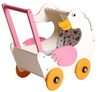 WOODEN DOLL'S GERDA GOOSE GOOSE SHAPED PRAM