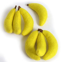 Make Believe Felt Bananas For Toy Shop Set Of 7
