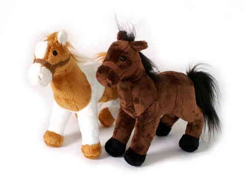 Soft Toy Set Of Two Horses Ponies  Molly Brown Caramel&WhiteGirlie Gift Kirkintilloch Glasgow