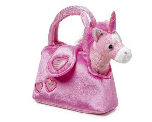 Soft Toy Pink Unicorn  in Pink Handbag Girlie Gift Set