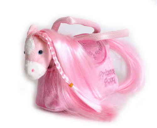 Soft Toy Pink Pony in Pink Handbag Girlie Gift Set