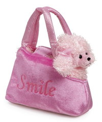 Soft Toy Pink Poodle in Pink Handbag Girlie Gift Set