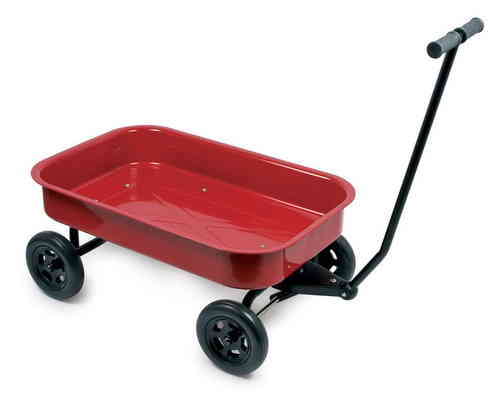 Large Red Metal Bodied Pull Along Wagon Truck Cart Camping Concert Outdoor Transport Toy  Glasgow
