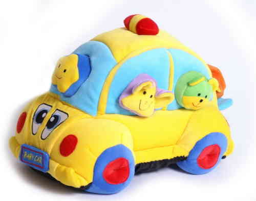 Soft Toy Vw Beetle Baby Toy Educational Shapesorter With 6 Animal