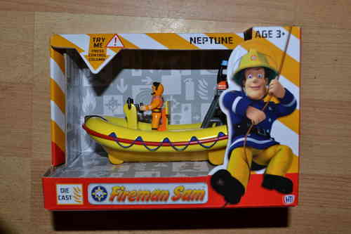 Teamsterz Diecast Fireman Sam Mountain Neptune Rescue Boat With Sounds Toy BBC cbeebies