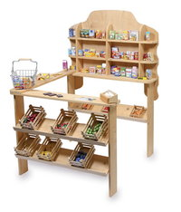 Make Believe Fantastic Natural Wooden Toy Shop  Market Stall From Toys Extra Kirkintilloch Glasgow