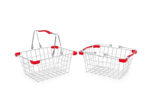 2 x Authentic Metal Mesh Toy Shopping  Or Bike Basket  From Toys Extra Kirkintilloch Glasgow