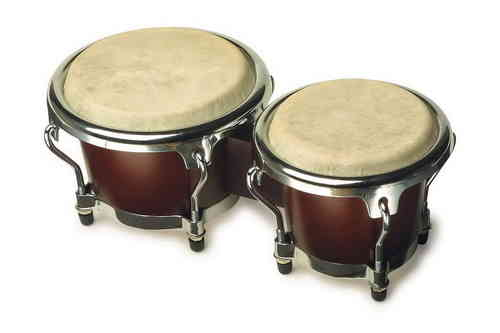 A Set Of Small Bongo Conga Drums  Musical Instrument Wooden Body Metal FrameFrom Kirkintilloch