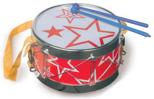 Children's Toy Star Drum Musical Toy With Drumsticks and Strap From Kirkintilloch