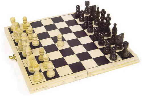 Wooden Folding Compact Toy Chess Set Folding Board Case From Kirkintilloch Glasggow