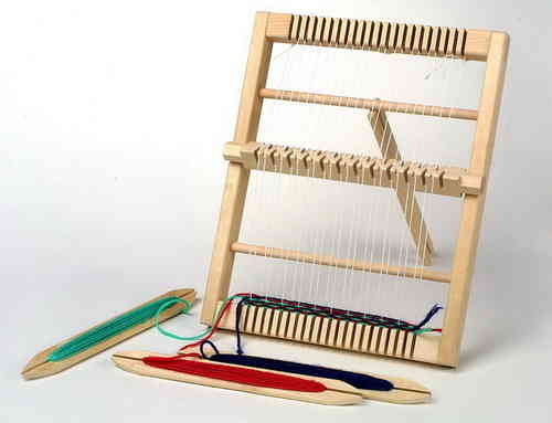 Wooden Smaller Weaving Loom Craftwork Girlie Gift Activity From Kirkintilloch Glasgow