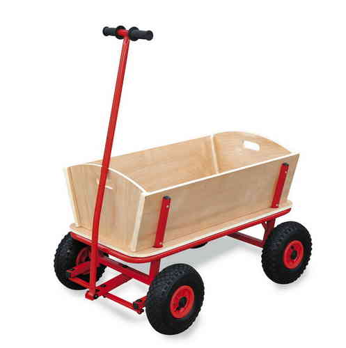 Quality Giant Wooden Pull Along Wagon Truck Cart Camping Concert Outdoor Transport Toy Glasgow
